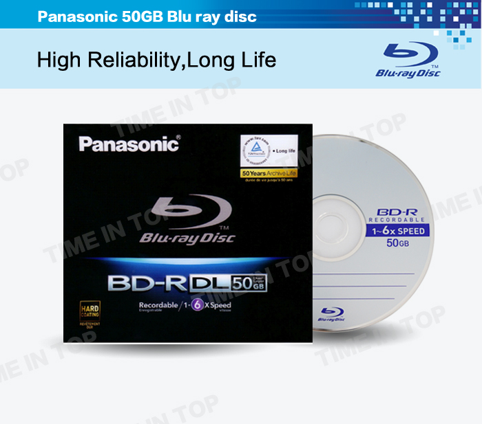50GB BD-R Blu ray disc
