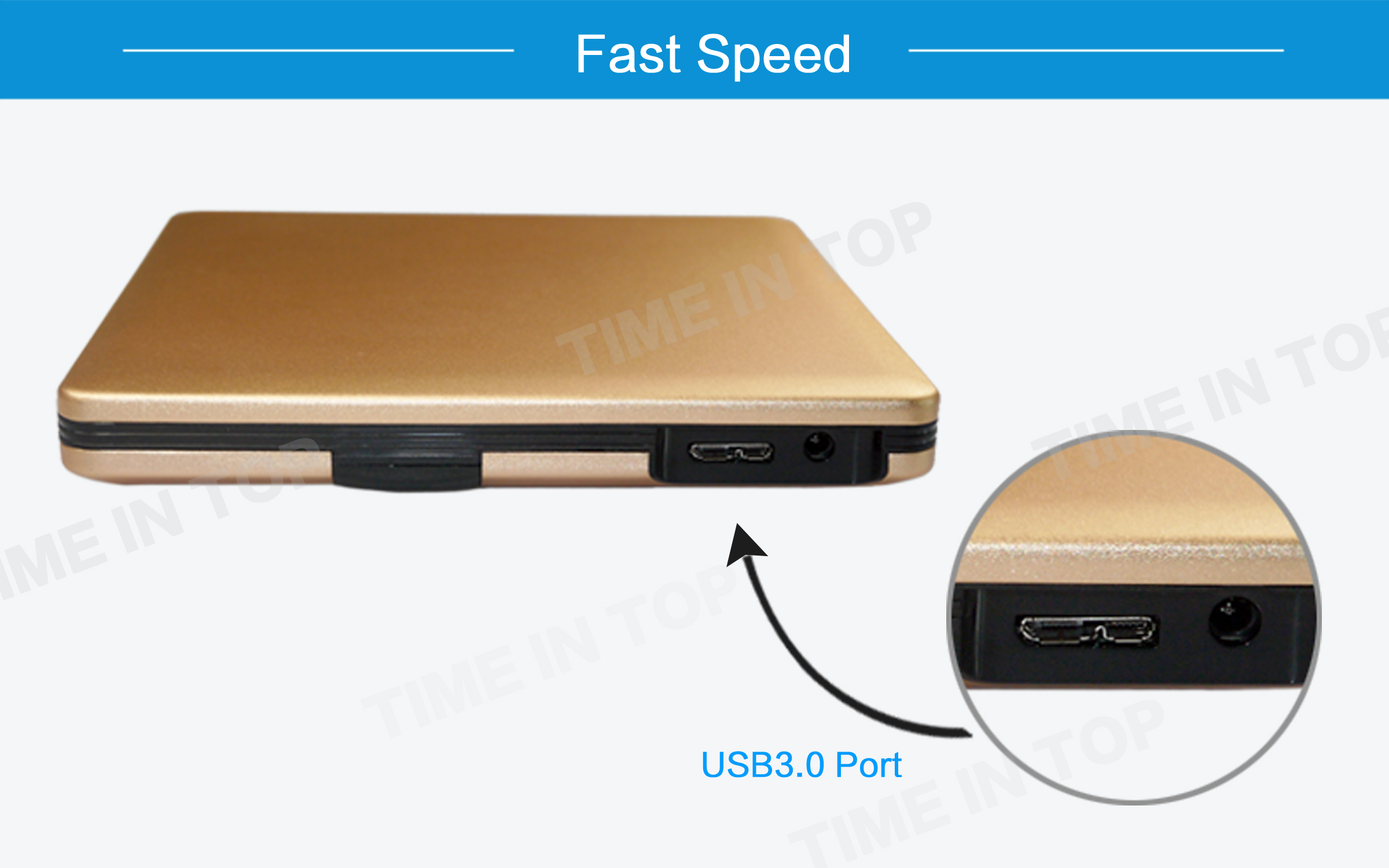 gold aluminum blu ray burner