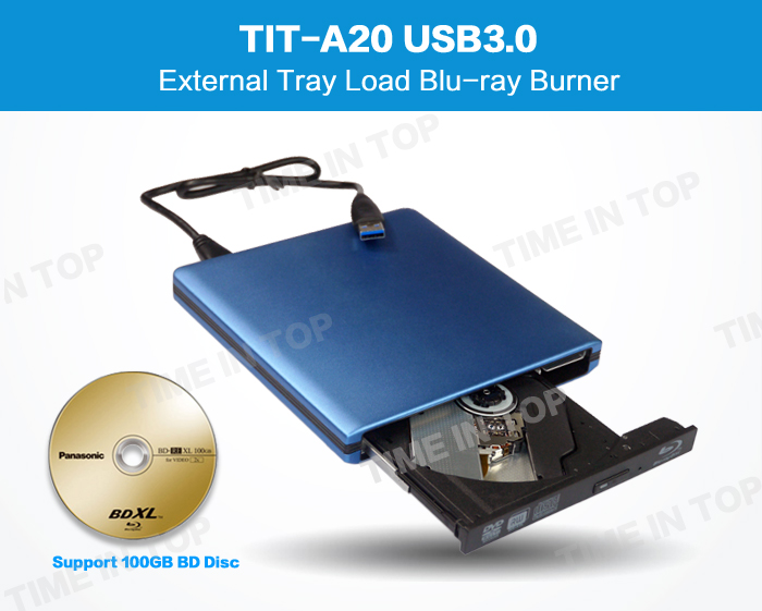 Blue color external drive