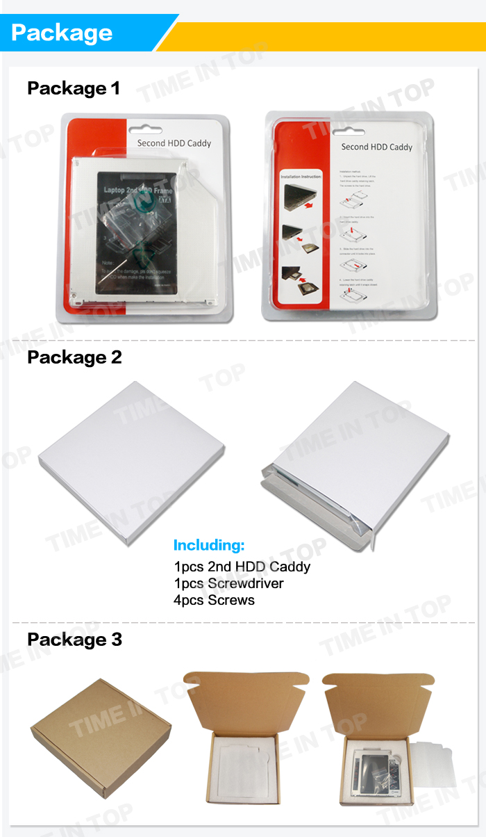 the packing of HDD Caddy