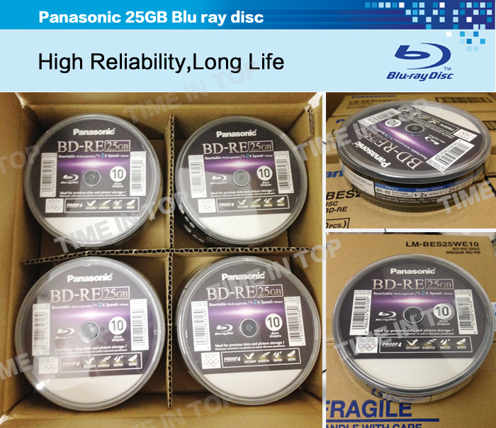 Panasonic 25GB BD-RE disc