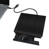 China USB3.0 & Type-C External Super Slim Black Tray Load DVD Burner factory